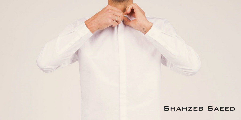 White cotton shirts by ShahzebSaeed
