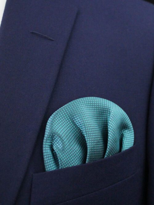 GREEN POCKET SQUARE