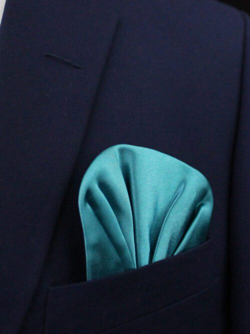 SEA GREEN POCKET SQUARE