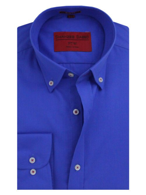 Royal Blue Plain Formal Shirt