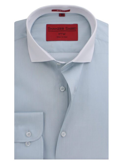 Aqua Green Plain Formal Shirt