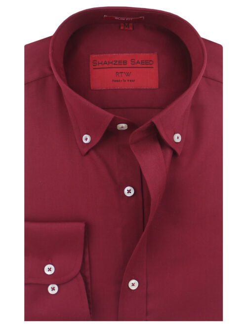 Maroon Plain Formal Shirt