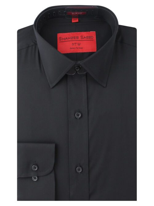 Black Plain Formal Shirt