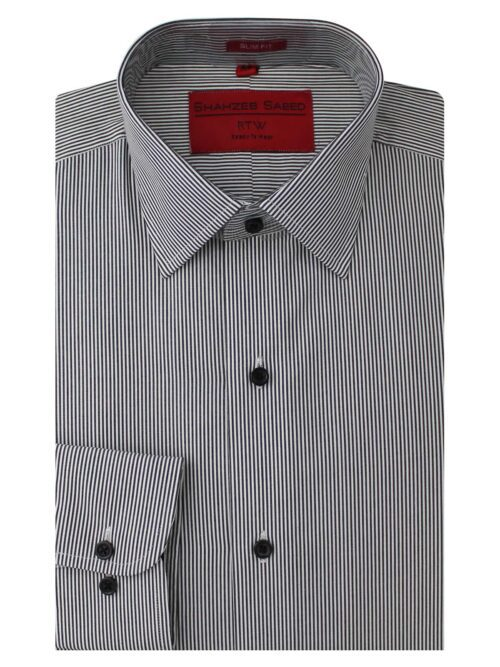Black And White Stripe Formal Shirt