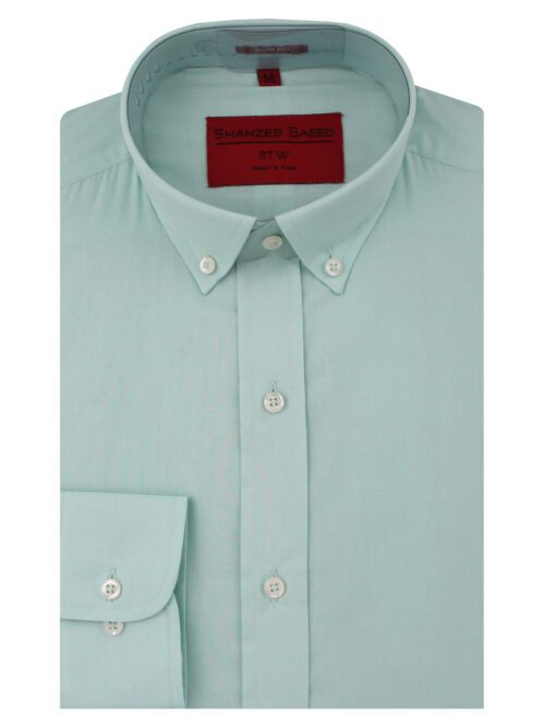 Aqua Green Self-Fabric Formal Shirt