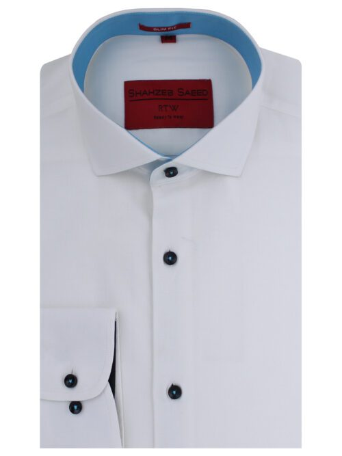 White Plain Semi-Formal Shirt