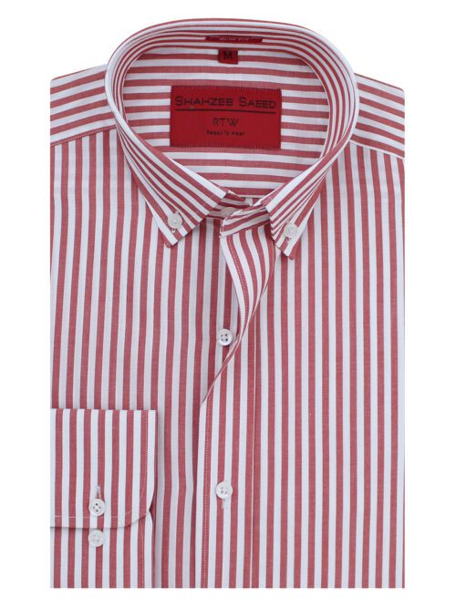 Red And White Stripe Formal shirt