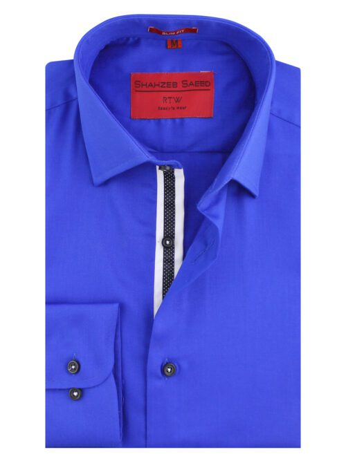 Royal Blue Semi Formal Shirt