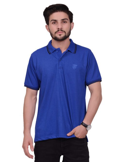 Royal Blue Half Sleeves Polo Shirt