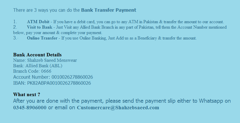 Bank Payment Transfer
