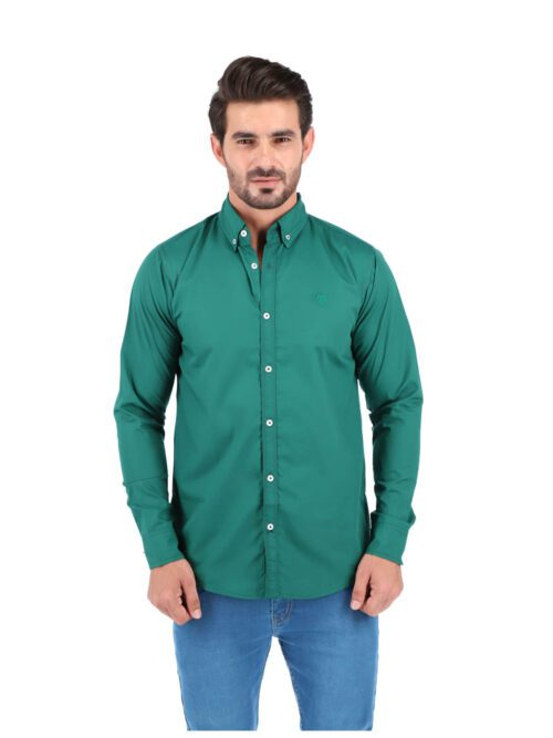 Parrot Green Plain Casual Shirt (CSW-182)
