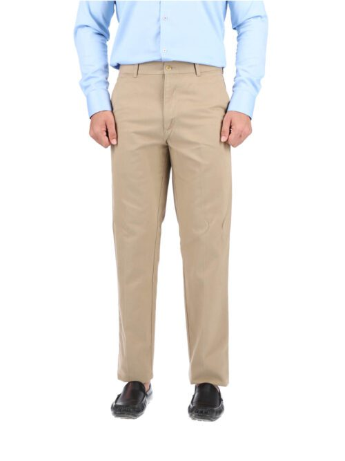 Light Khaki Wrinkle Free Cotton Trouser