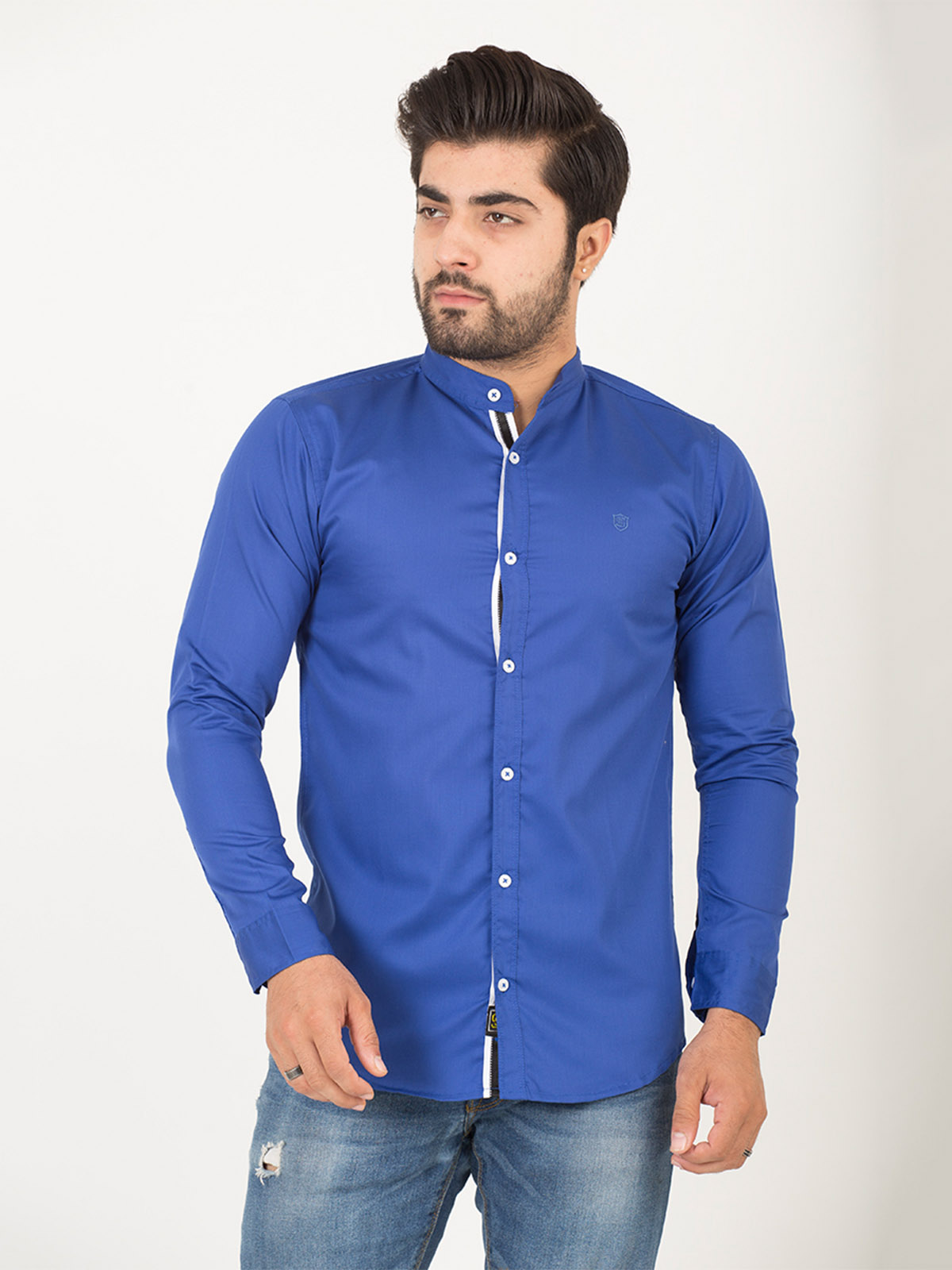 Royal Blue Casual Shirt (CSW-194)