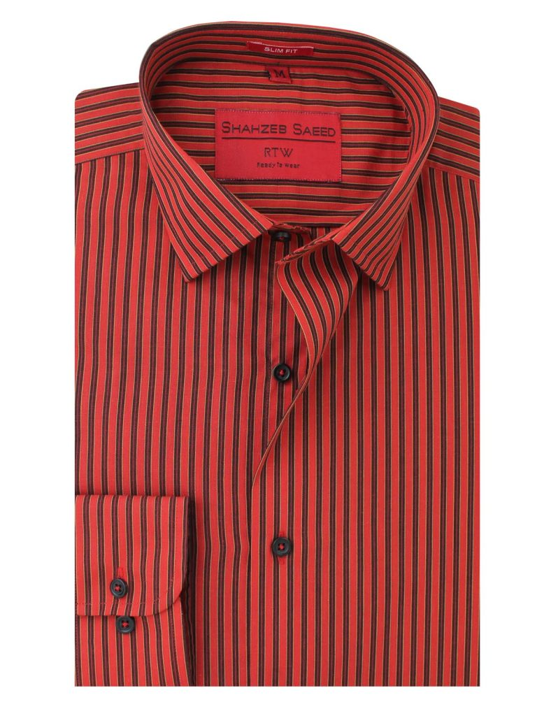 Red & Black Striped Shirt for Men