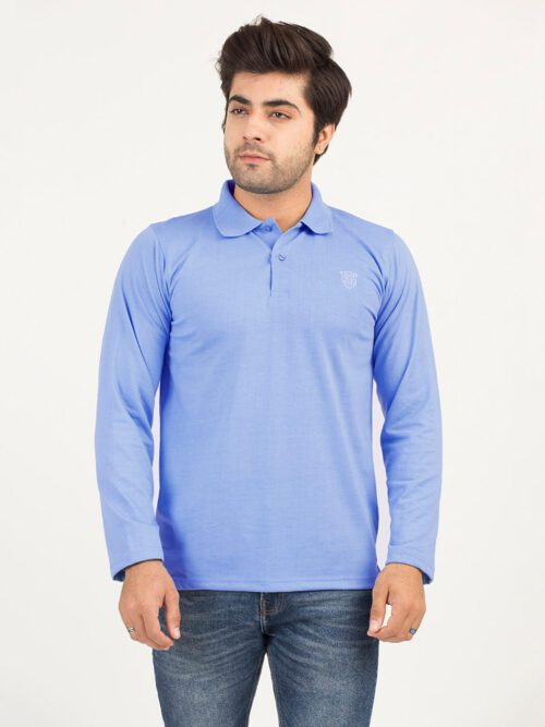 Sky Blue Full Sleeves Polo Shirt (POLO-110)