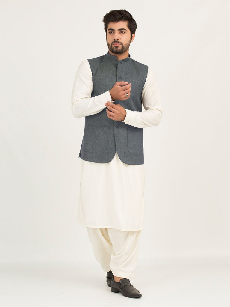 Stylish Waistcoat Men Designs Can Catch New Trends, Are you looking out for such clothes which can appear formal, elegant as well as make your look sizzling and stylish? Then SS new waistcoat men designs surely be the best option for you. Activate your fashionable attire with one of the classic men's waistcoats of Shahzeb Saeed, or go bright with a statement fashion style like shalwarkameez, kurtapajama, and shirts with jeans pants. They are the best online shopping store in Pakistan that can grab your clothing requirements. Passed the days when you wear old-fashioned casual or formal coats for any occasion. The latest blazer jacket' styles have reached the peak of fashion. They can change anyone's personality and give a great impression. However, it can be so difficult to choose the right fit and design as per your body size and preferences. But don't worry, here we are to help you out! We will give you an edge of trending styles of vest coat suits for men. Stylish Waistcoat Men Designs Can Catch New Trends.