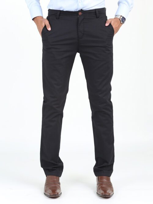 Black Cotton Chino
