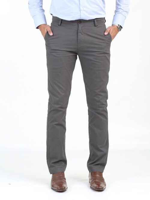 DARK GREY Cotton Chino