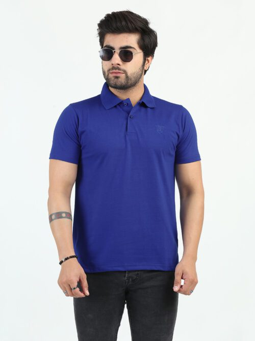 Royal Blue Full Sleeves Polo Shirt (POLO-125)