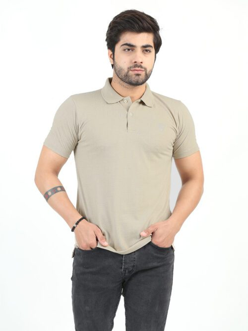 Fawn Half Sleeves Polo Shirts (POLO-132)