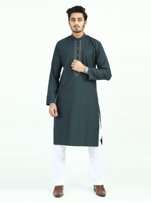 Dark Green Kurta (KURTA-135)