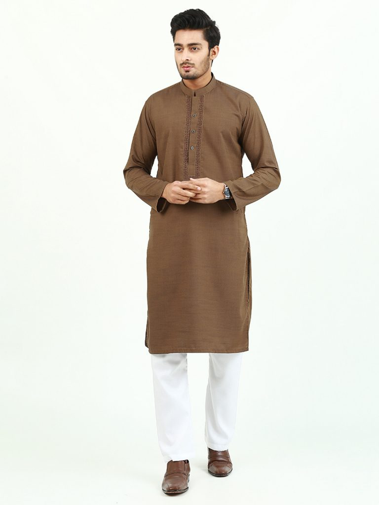 Brown Self Kurta (KURTA-144)