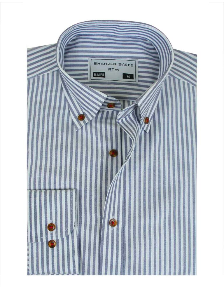 2- Button-Down Men Shirt  Sometimes an oxford button-up or button-down is perfect for professional suiting. A classic button-down collar oxford or dress shirt provides a good comeback since new with the more preppy style. The collar stands strong and raises your face look in the right way.