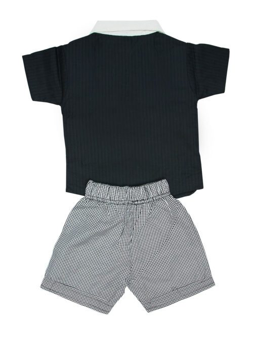 Grey and black boy suit