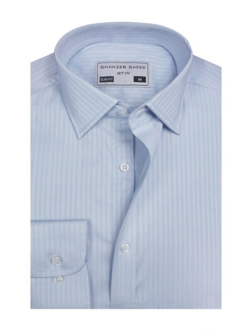 white stripped dress shirt