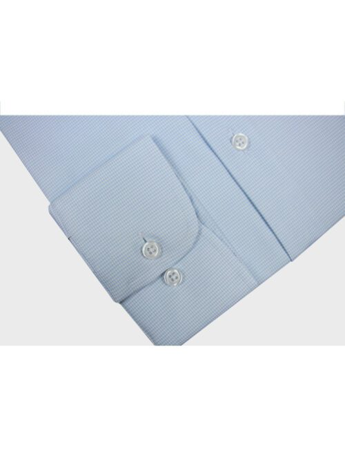 light blue self dress shirt