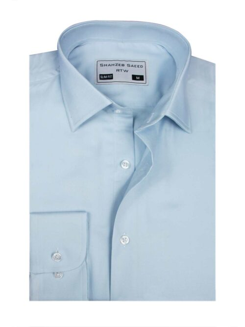 Sky Plain Formal Dress Shirt
