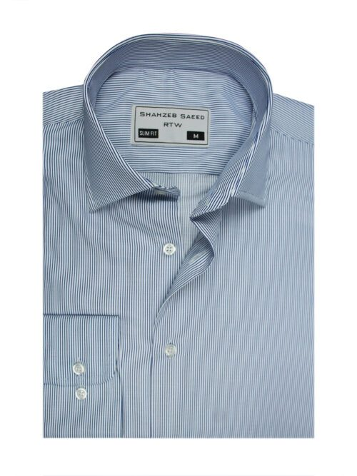Blue stripped formal shirt