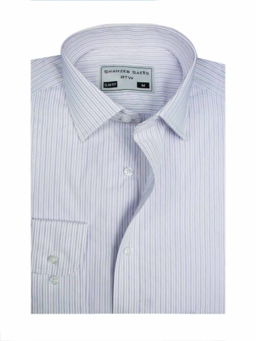 purple stripped dress shirt