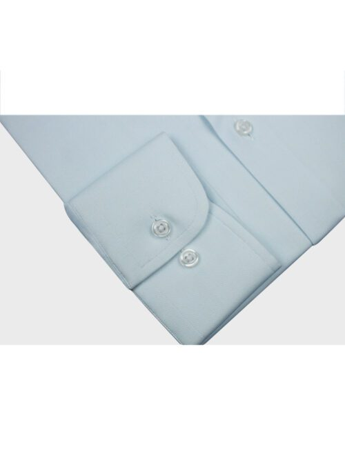 ice blue plain formal shirt