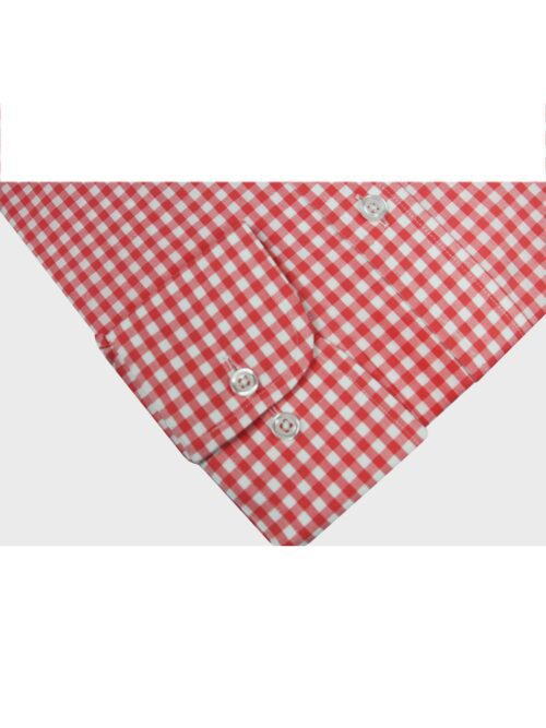 white and red checkered formal shirt