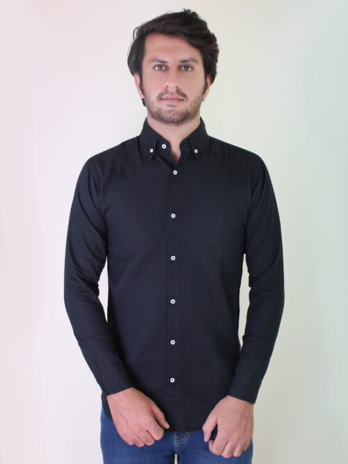 black denim casual shirt