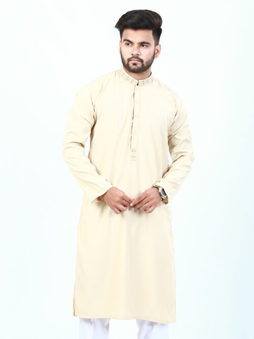 Cream Emboridered kurta
