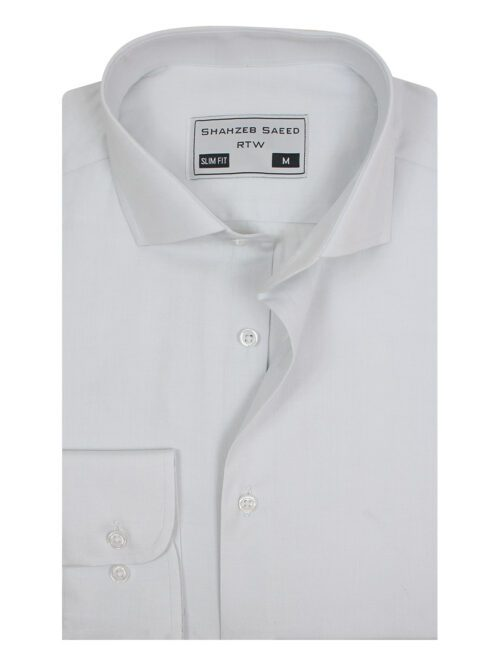 Ash White Plain Formal Shirt