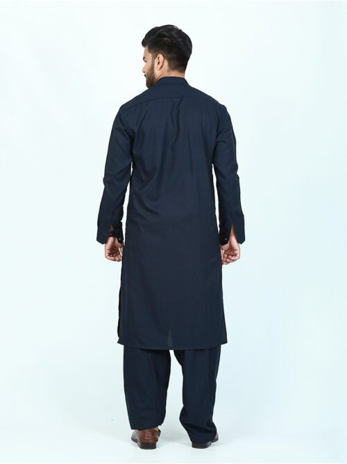 Navy blue plain shalwar kameez