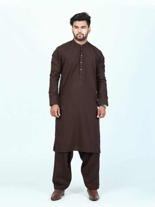 light brown shalwar kameez